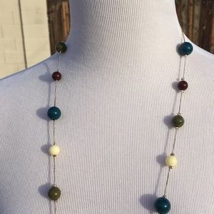 Jewelry - Long Multi-Colored Beaded Necklace